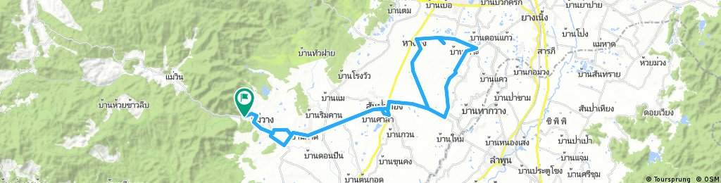 Cycling route to the Handicrafts Center Hang Dong