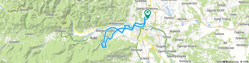 Košaki - Limbuš - Meranovo - Pečke - Bistrica ob Dravi - Maribor