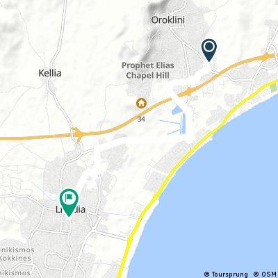 Short bike tour through Larnaca