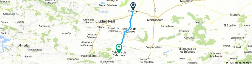 La Mancha 2: Daimiel-Bolaños de Calatrava-Almagro-Granátula de Calatrava-Calzada de Calatrava