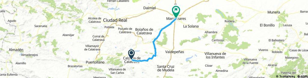 La Mancha 4: Calzada de Calatrava-Moral de Calatrava-Manzanares