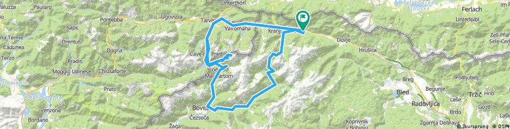 Etapa 5 Krajna-Vrsic-Mangart-Predil-Krajna