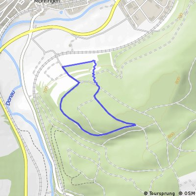 Strecke MTB-Rennen Möhringen