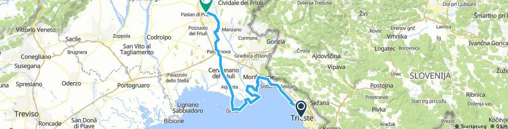 Triest - Grado - Cervignano - Udine. Neu
