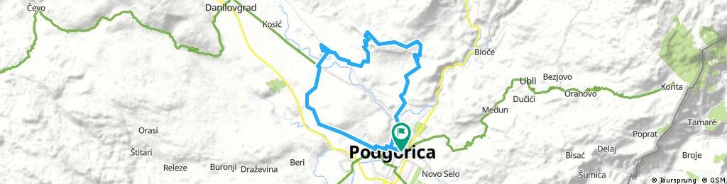 Podgorica—Bjeloglav—Spuž—Mareza—Podgorica