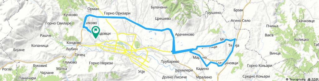 SkopjeObikolnica-Ilinden/AjvatovciKrug-ObikolnicaGeGe/87km/500m