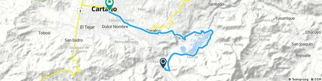 Orosí to Cartago long way
