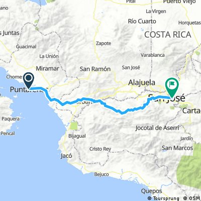 Puntarenas to San Jose on the 27
