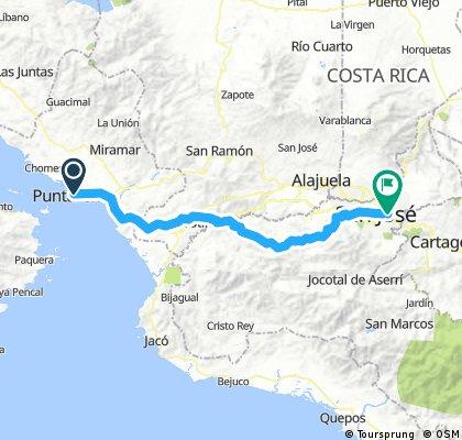 Puntarenas to San Jose on the 27