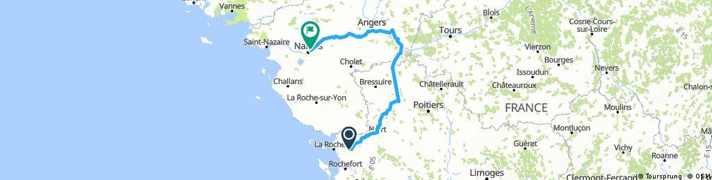 Trip La Rochelle - Saumur - Nantes
