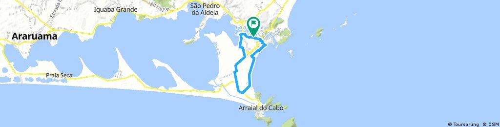 bike tour Cabo Frio aeroporto arraial forte