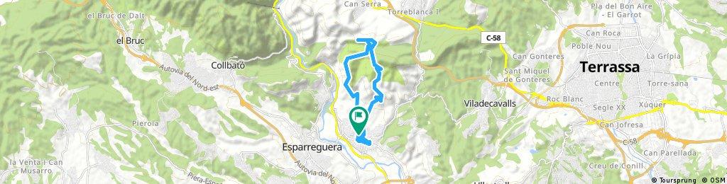 Góry w okół Olesa de Montserrat