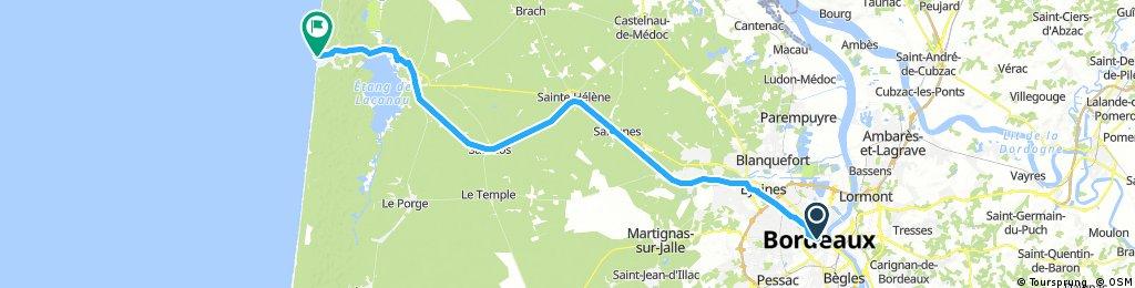 Bordeaux to Lacanau Ocean