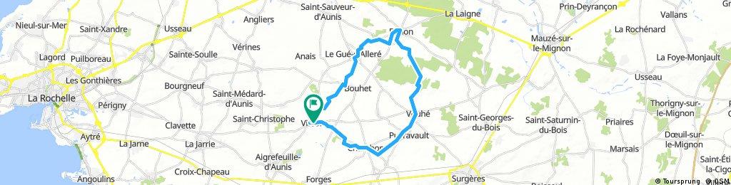 VTT  30km boucle Virson - Benon - Vouhé - Virson