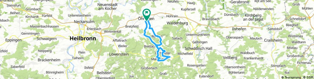 Öhringen - Mainhardt - Öhringen