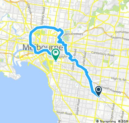 Oakleigh to South Yarra via Convent & parkville