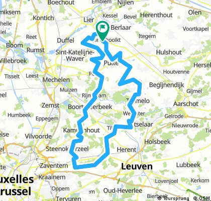 Snake - Kortenberg - 92km (voorstel)