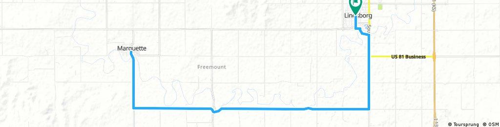 Lindsborg via the Meadowlark Trail to Marquette