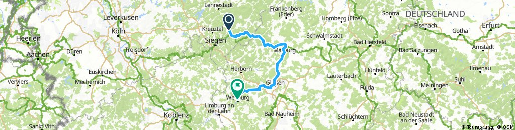 2017 - Lahnradweg - Übersicht
