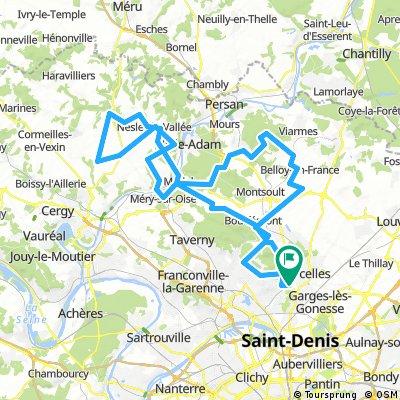 TOBOGGAN DU VAL D'OISE - GROSLAY - 100 KMS