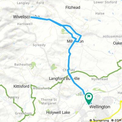 Taunton Deane Triathlon Route