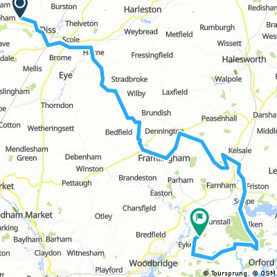 Bressingham to Rendlesham
