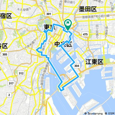 Tokyo Great Cycling Tour - Route A