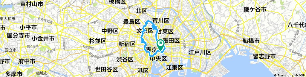 Tokyo Great Cycling Tour - Route E