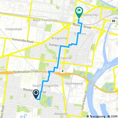 Northern Route Newport to Footscray