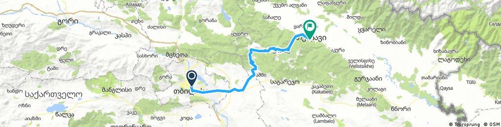 Georgia - day 01 - Tbilisi - Gombori Pass - Telavi   Bikemap - Deine ...