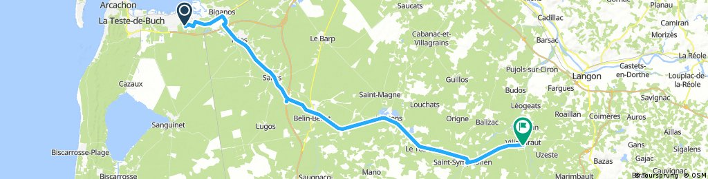 Arcachon/Biganos to Villandraut