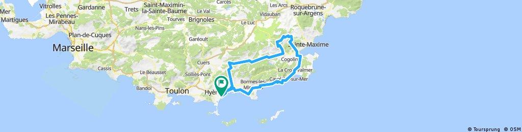 Var 5 - 145Km 1800m St-Tropez