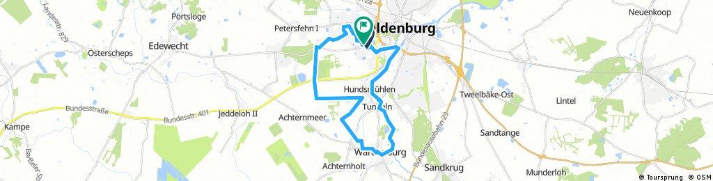 Lange Radrunde durch Oldenburg