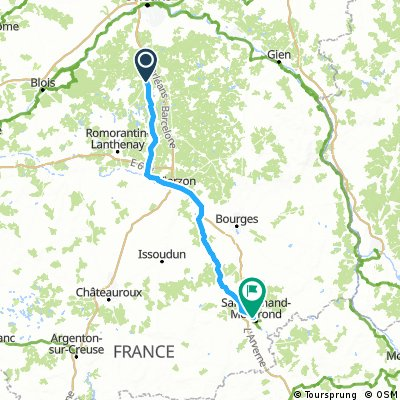 Chaumont to St Amand Montrond