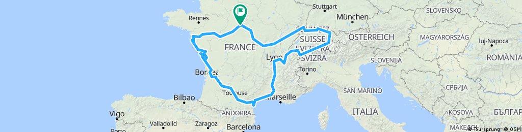 Road trip 2018 (Loire, Garonne, Rhone, Rhin, Loire)