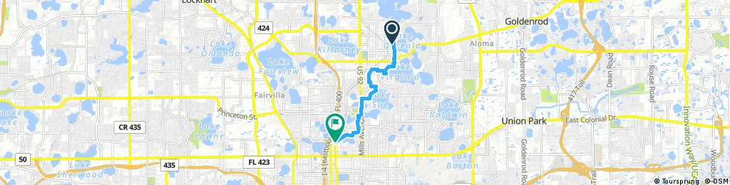 winter park/downtown mostly trails and bike lanes