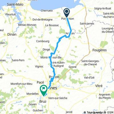 Mont Saint Michel (near) to Rennes Airport