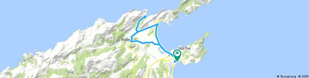 Fika i Cala Sant Vicenc - Kort lätt runda