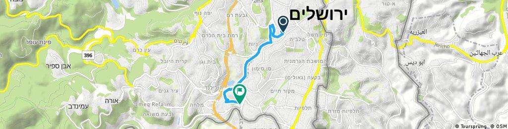 Rehavia to Jerusalem Arena