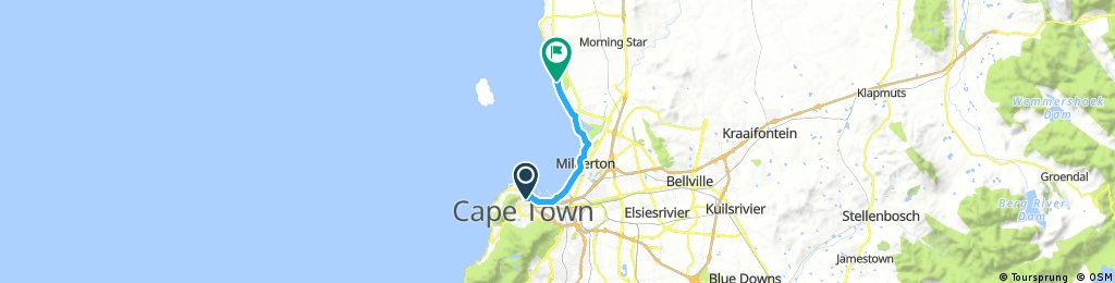 Cape Town to Blouberg