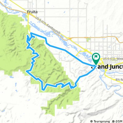 Cycling routes and bike maps in and around Grand Junction | Bikemap ...