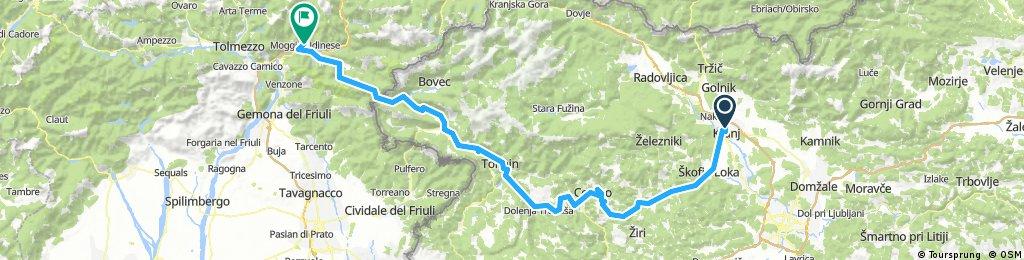 Kranj- Moggio Udinese 150km 2350hm