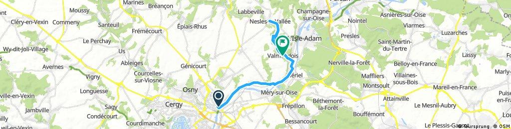 Pontoise to Nesles la Vallee via Auvers sur Oise