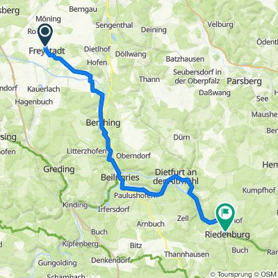 🚴♀️E*Bike🇩🇪 22.08.18.- Tour 1: Mi. Durch den Naturpark Altmühltal von Neumarkt nach  Riedenburg