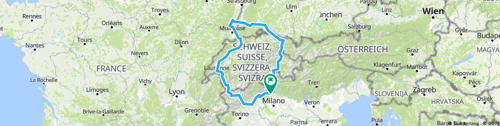 Como -Colmar-Liechtenstein - Friburgo -Como