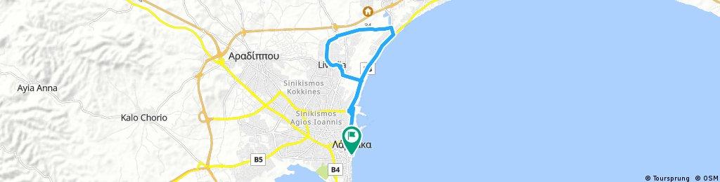 Larnaka (finikoudes) - Livadia - Oroklini - Larnaka (finikoudes)