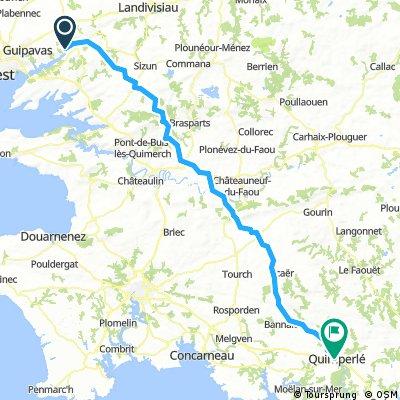 Voyage 2018 - Landerneau Quimperlé - 104km 1110D+