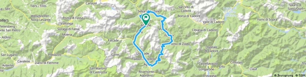Tour de Civetta - Passo Staulanza, Duran