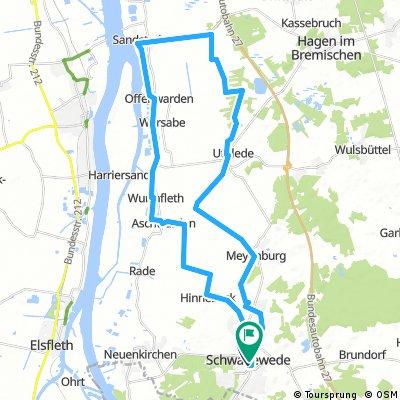 Schwanewede - Sandstedt - Uthlede - Meyenburg - Schwanewede