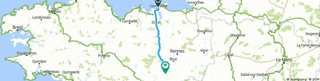 St Malo to Loheac